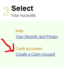 Create a Cash Account