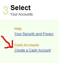 Create a Cash Account